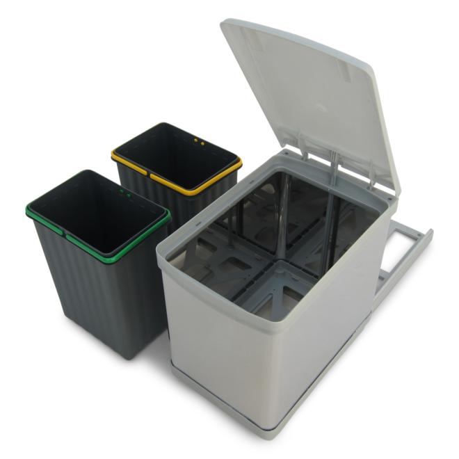 Stockholm 2-15 • Affaldssystem i rustfri stål og plast på 2 x 7,5 liter