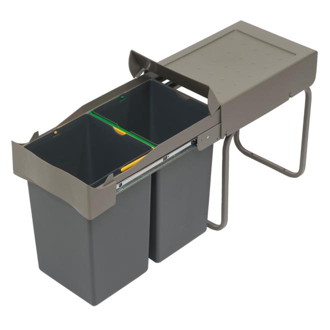 Copenhagen 2-28 - Affaldssystem i stål og plast på 2 x 14 liter