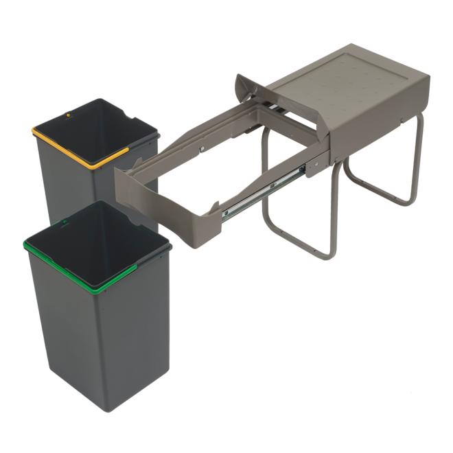 Copenhagen 2-28 • Affaldssystem i stål og plast på 2 x 14 liter