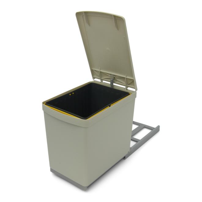 Copenhagen 1-16 - Affaldssystem i stål og plast på 1 x 16 liter