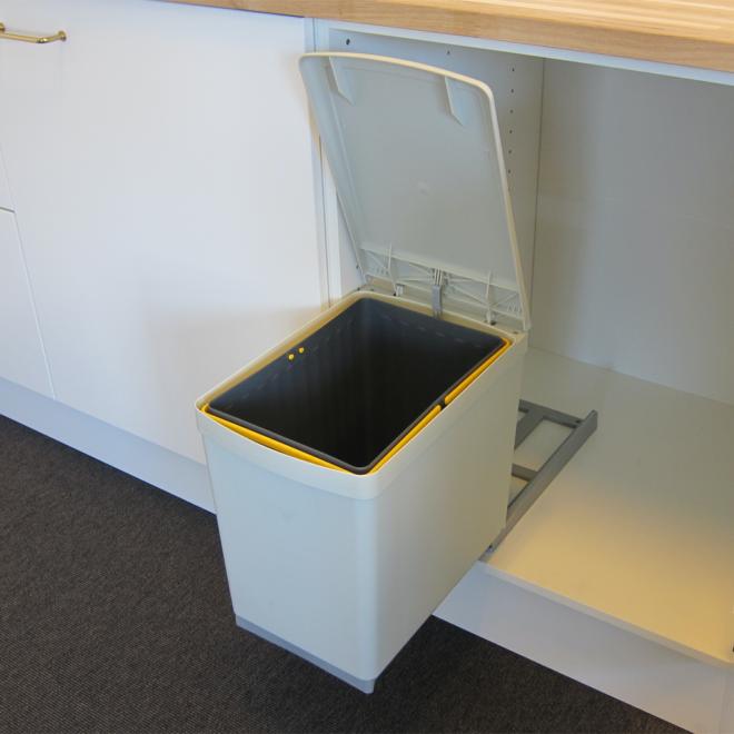 Copenhagen 1-16 • Affaldssystem i stål og plast på 1 x 16 liter