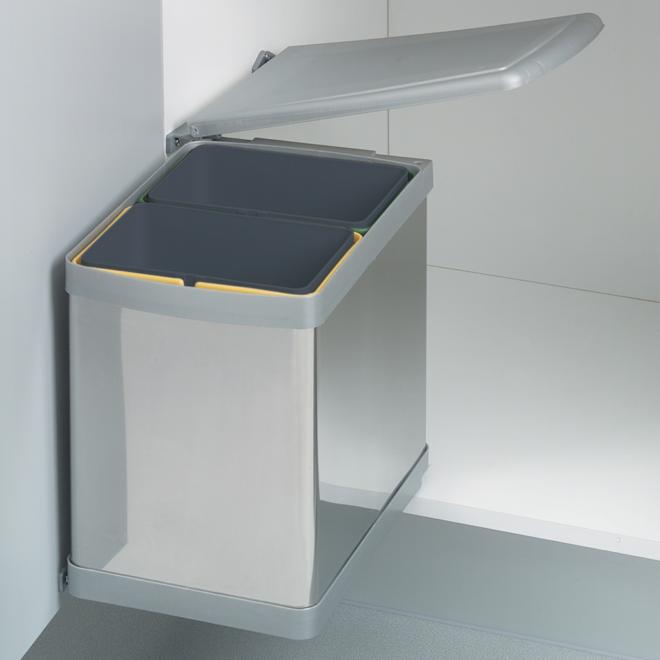 A010 Automatisk affaldssystem i rustfri stål + grå