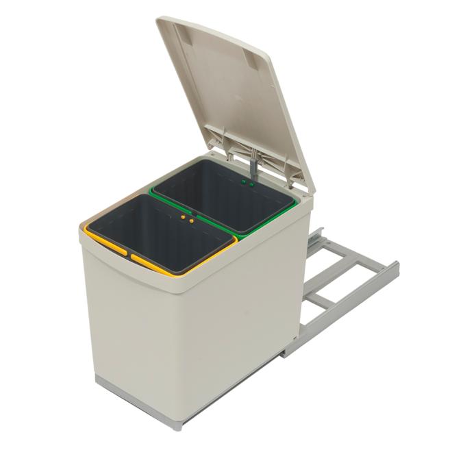 A011 Halvautomatisk affaldssystem i grå + sandfarvet