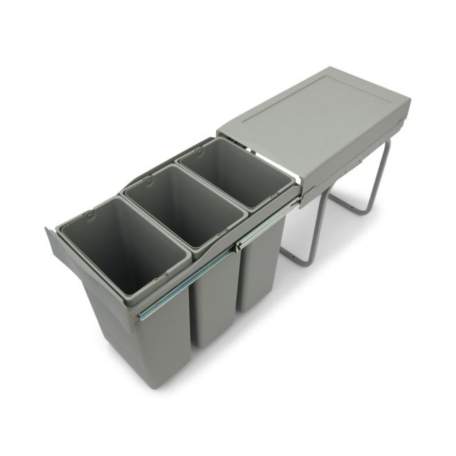 Copenhagen 3-30 - Affaldssystem i stål og plast på 3 x 10 liter