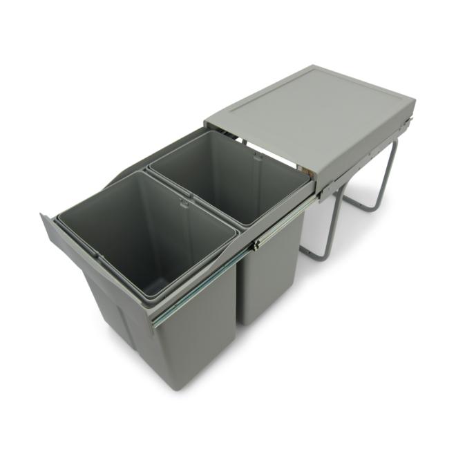 Copenhagen 2-42 - Affaldssystem i stål og plastik på 2 x 21 liter