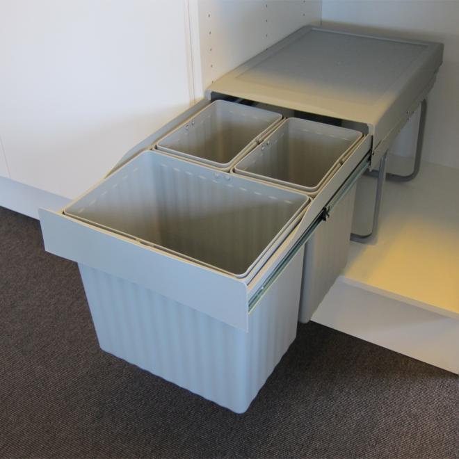 Copenhagen 3-31 X • Affaldssystem i stål og plastik på 1 x 16 liter + 2 x 7,5 liter