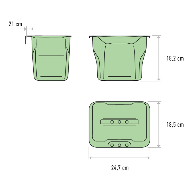 Copenhagen 1-5 • Affaldsspand i hvid plast på 5 liter
