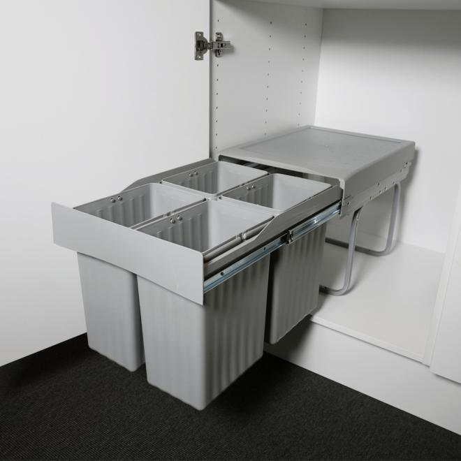 Copenhagen 4-30 • Affaldssystem i stål og plastik på 4 x 7,5 liter
