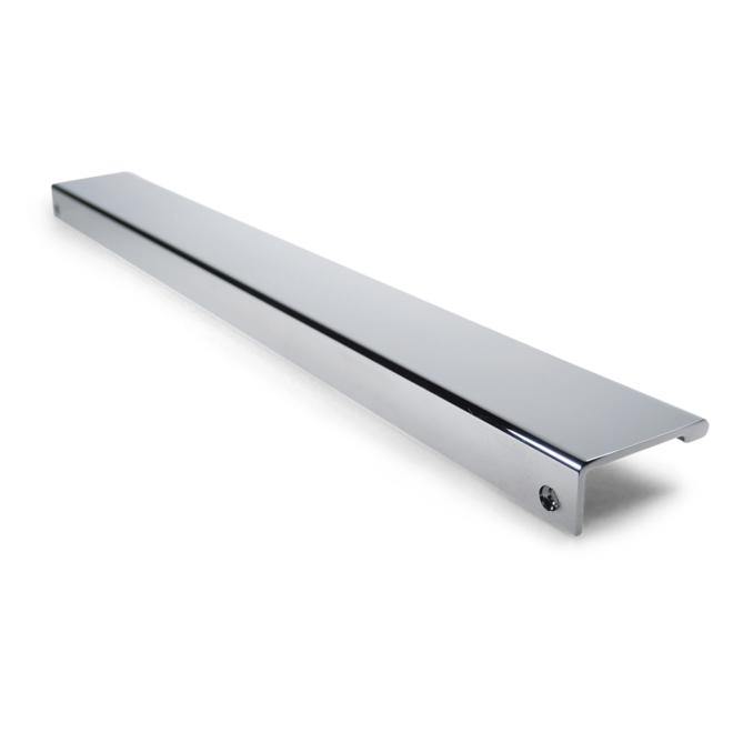 Ballerup - Enkelt køkkengreb til top montering i forkromet aluminium