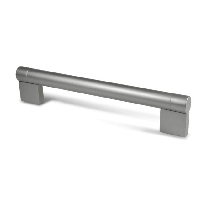 Hundested - Rælingsgreb i stærk sølvfarvet stål og zink