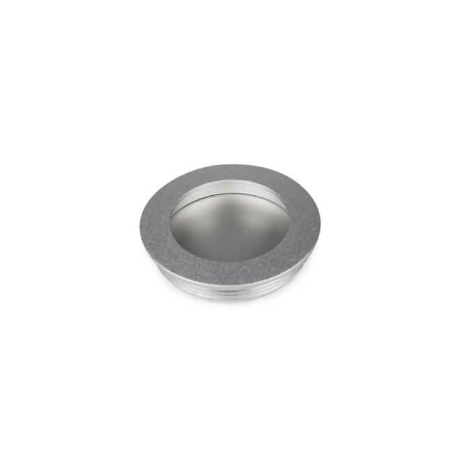 Faxe - Skålgreb i sølvfarvet i Ø55/60 mm