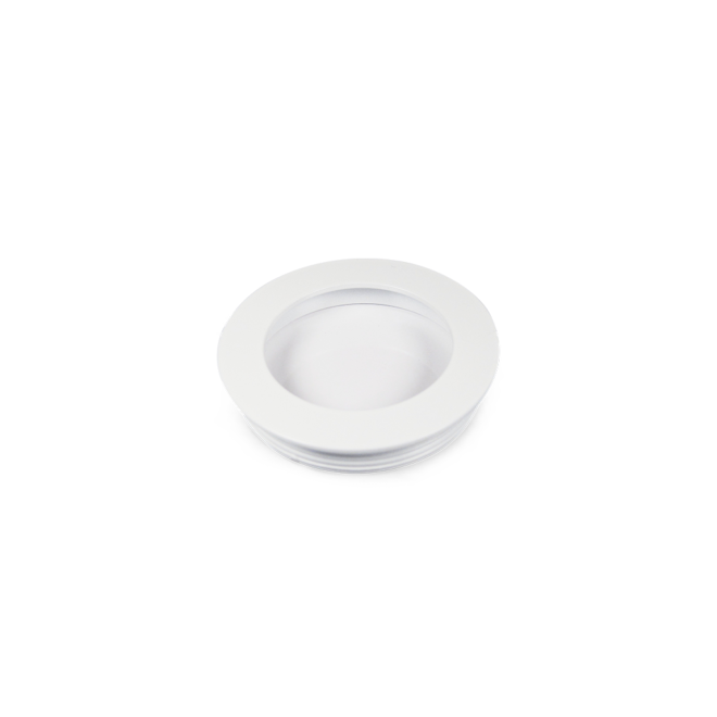 Faxe - Skålgreb i mat hvid i Ø55/60 mm