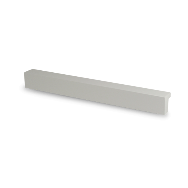 Klampenborg - Profilgreb i hvid malet aluminium
