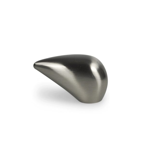 Gellerup - Unik knop i rustfri stål look i konisk design
