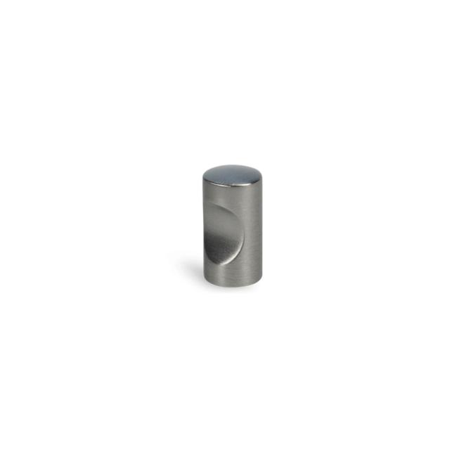 Skæring - Cylinder knop i rustfri stål look