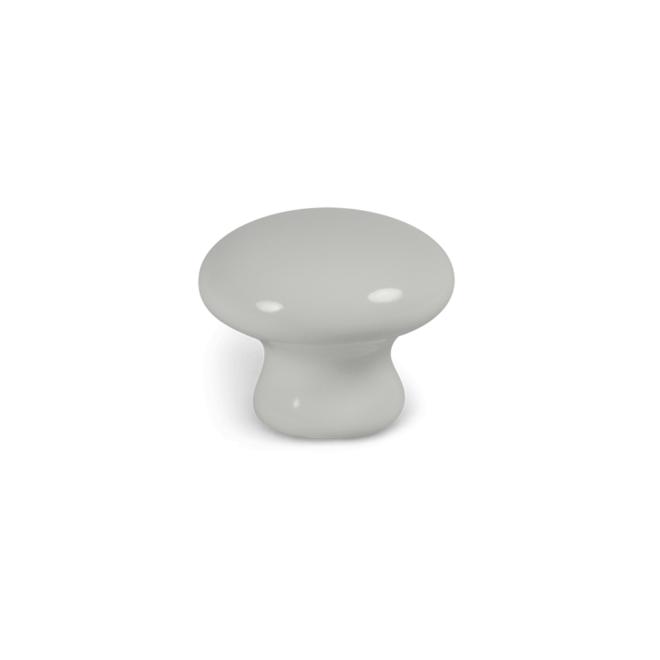 Blåvand - Klassisk porcelænsknop i hvid porcelæn