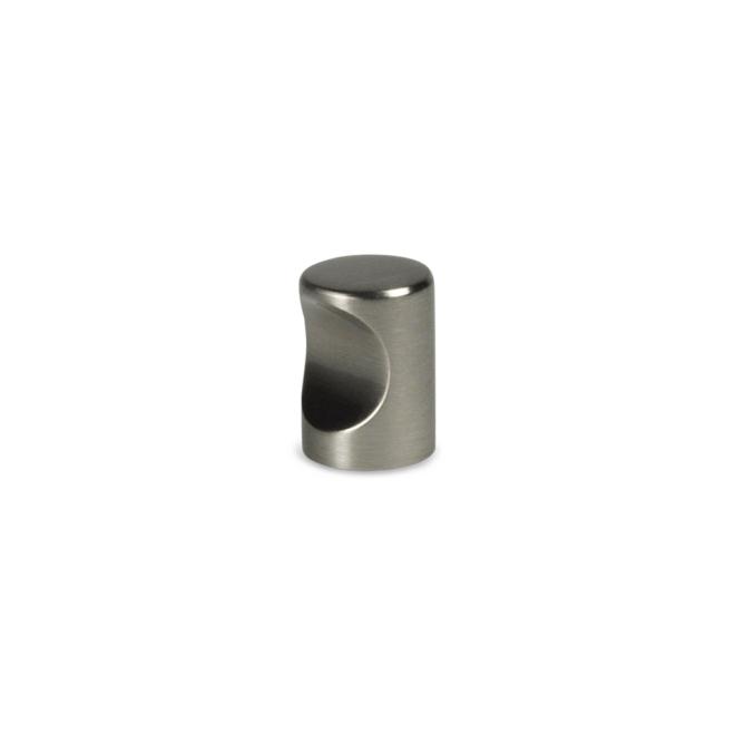 Hjortdal - Cylinder knop i rustfri stål look