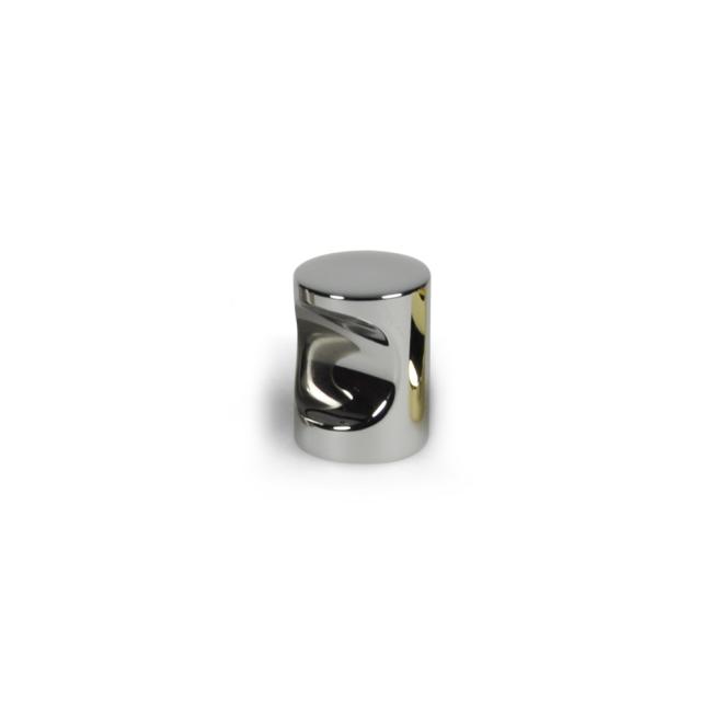Nordhavn - Cylinder knop i blank krom