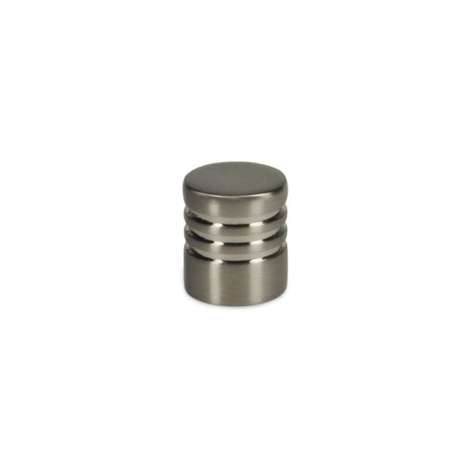 Hanstholm - Cylinder knop med rigler i rustfri stål look