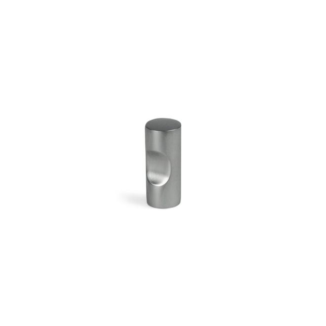 Bjergby - Cylinder knop i mat krom i højde 25 mm