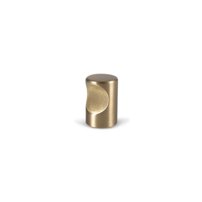 Vigsø - Cylinder knop i massiv børstet messing