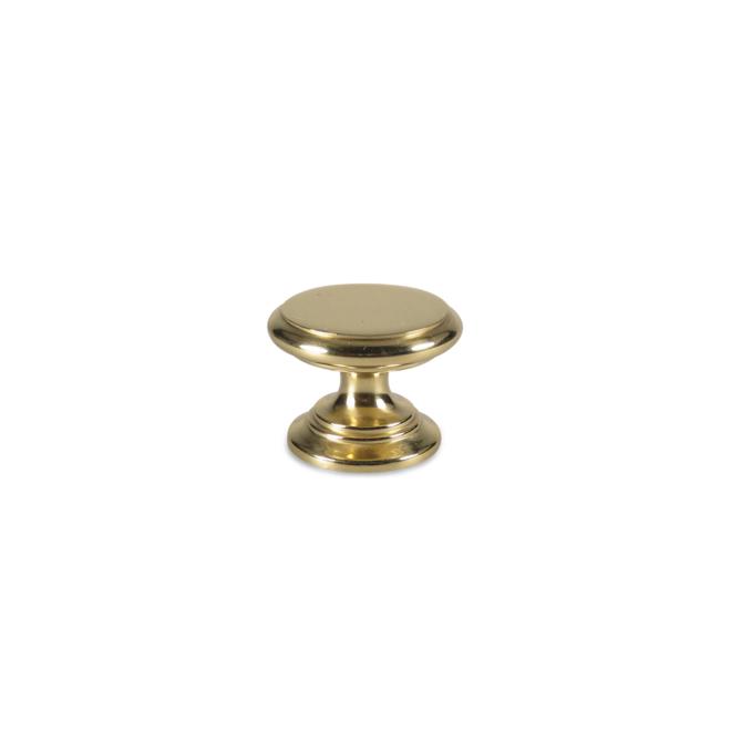 Jægersborg - Italiensk antik knop i blankpoleret messing