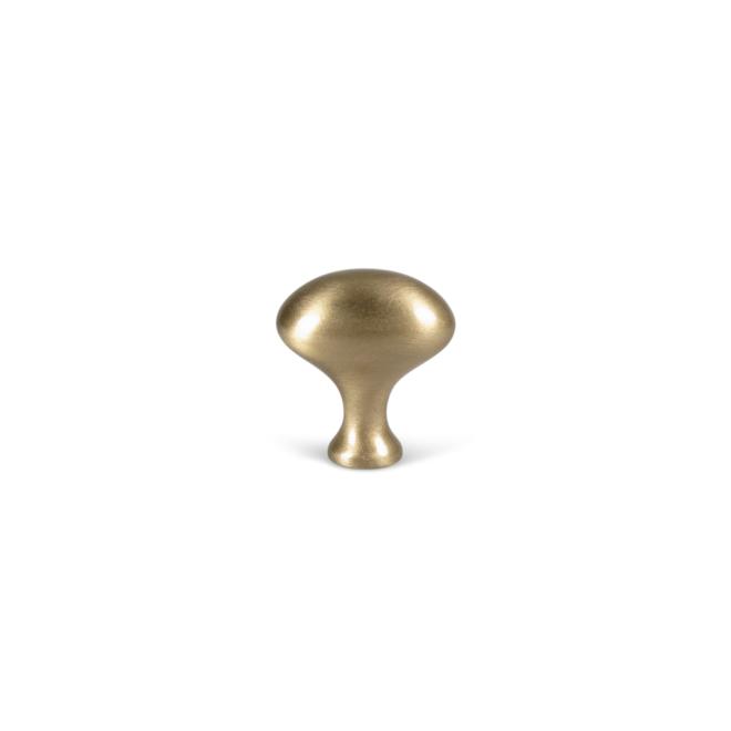 Hellerup - Oval knop i børstet messing