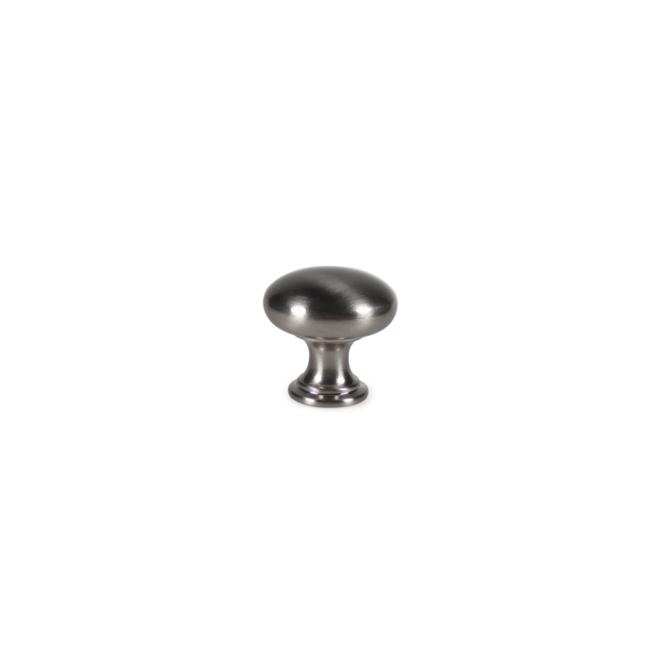 Skjern - Knop i klassisk design i børstet stål look