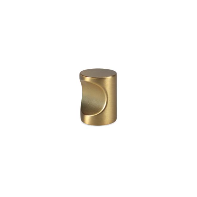 Nordhavn • Cylinder knop i børstet messing look