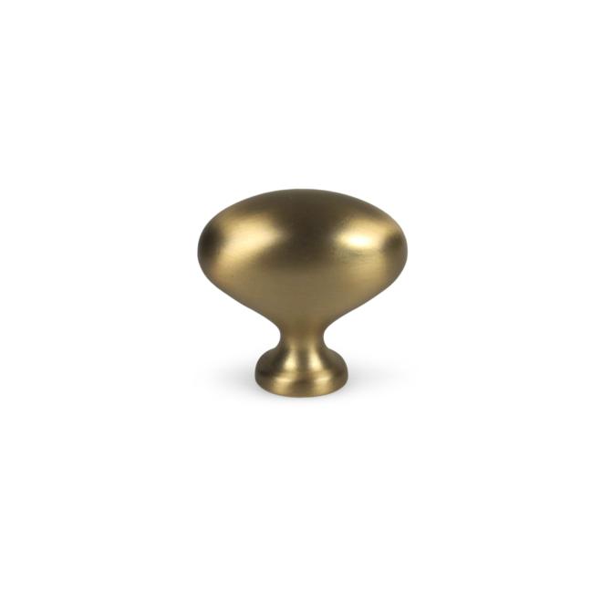 Risskov • Oval knop i børstet messing look