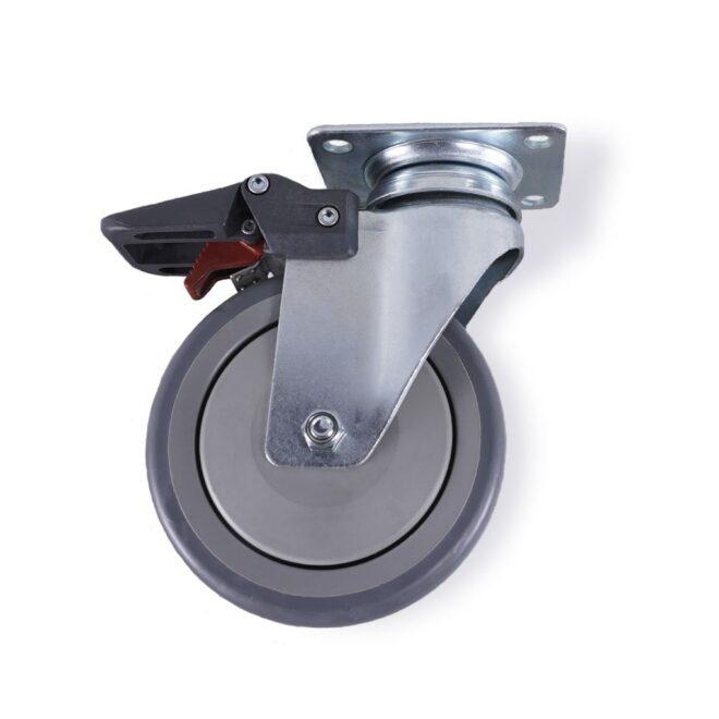 Hamborg - møbelhjul i Ø125 mm. med bremse