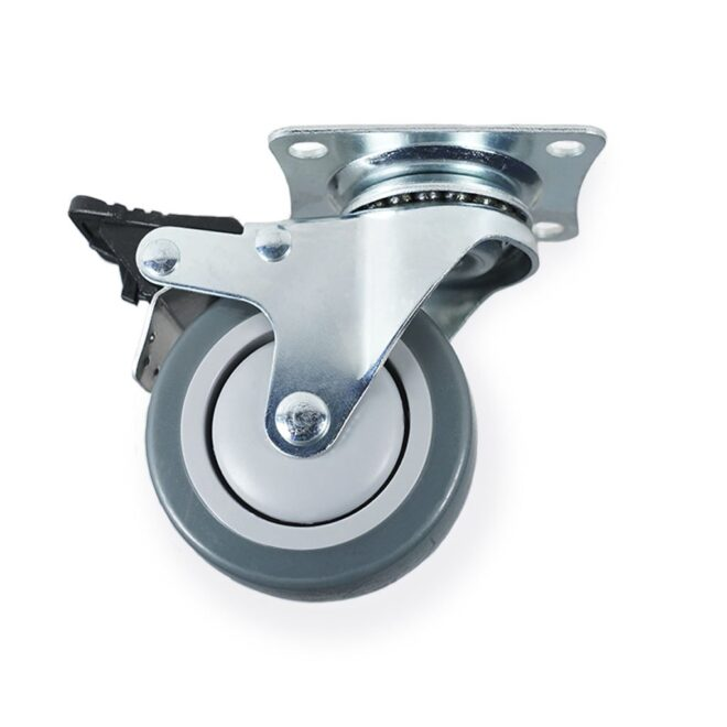 Møbelhjul: Hamborg - møbelhjul i Ø75 mm. med bremse